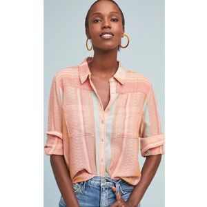 Anthropologie Maeve Cleopatra Oversize Button Down